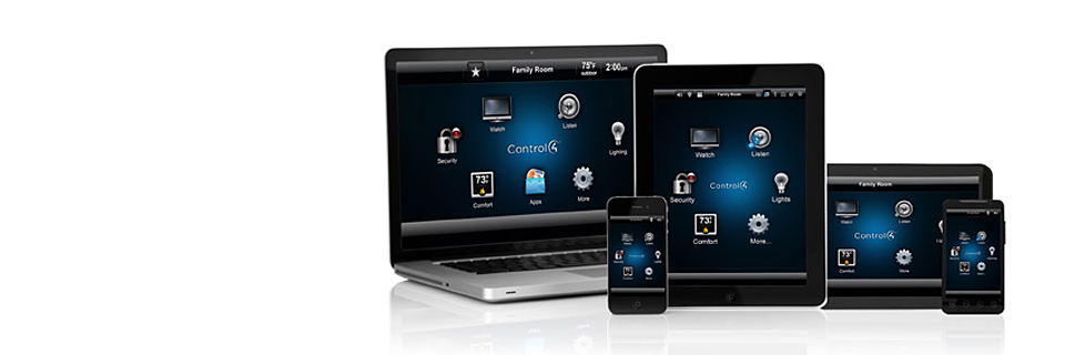 Control4 - interface, ipad, iphone, android, laptop